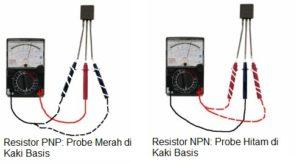 cara memeriksa komponen elektronika transitor menggunakan multitester analog