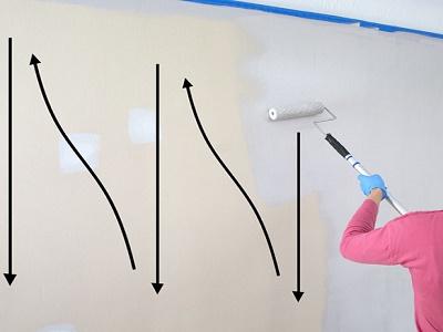 cara mengecat tembok dengan benar teknik zig zag