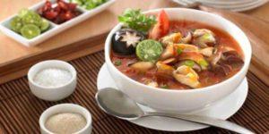 menu khas ramadhan sup bebek jamur