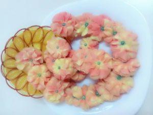 resep membuat kue dahlia warna