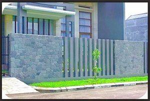 Pilihan model desain pagar rumah minimalis dengan batu alam-06