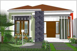 Desain pagar rumah minimalis modern 1 lantai