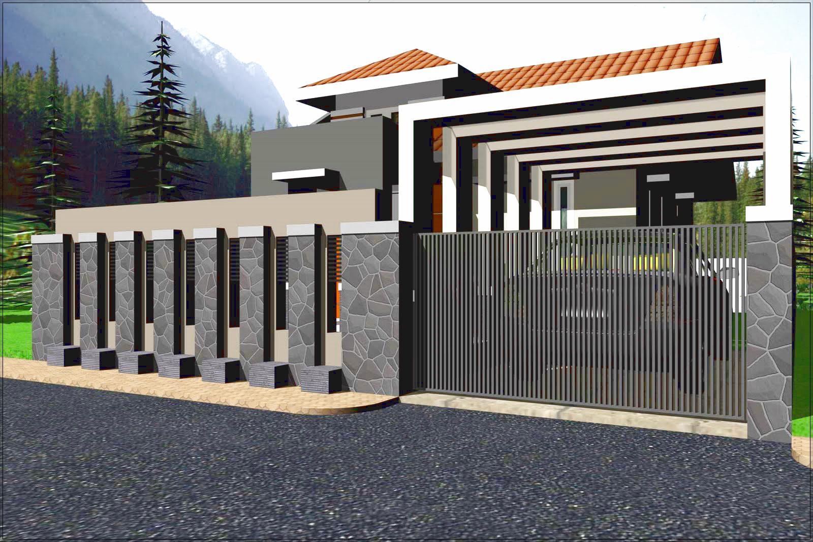 Desain Pagar Rumah Minimalis Modern 1 Lantai Sesuai Budget