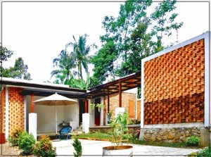 desain pagar rumah minimalis dari batu bata