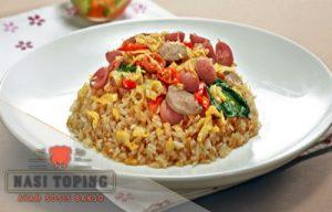 Resep Nasi Toping Ayam Sosis Bakso